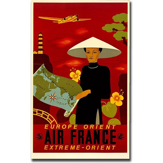 'Air France Orient Express' Canvas Art