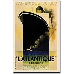 L'Amerique Du Sud L'Atlantique Canvas Art