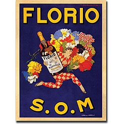 Marcello Dudovich 'Florio S.O.M' Canvas Art
