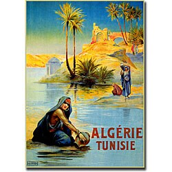 L. Lessieux 'Algerie Tunisie' Gallery-wrapped Art