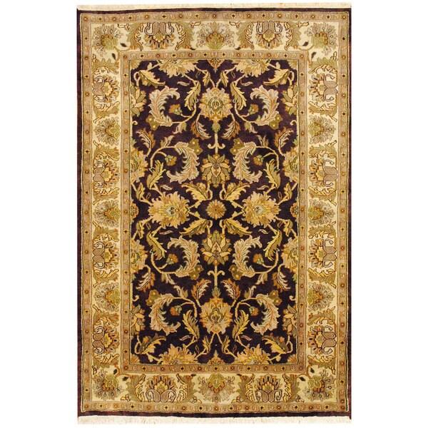 Indo Mahal Burgundy/ Ivory Rug (6' x 9')