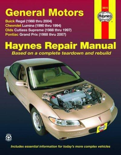 Haynes Repair Manual General Motors Buick Regal 1988 Thru