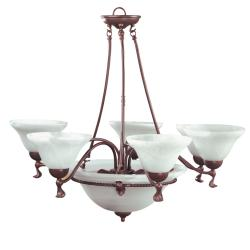Mahogany 9-light Chandelier