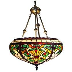 Victorian Design Tiffany-style Inverted Pendant