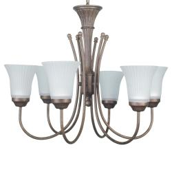 Renaissance 6-light Silver Chandelier