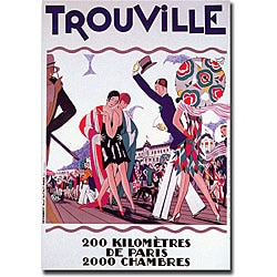 'Trouville' Gallery-wrapped Canvas Art