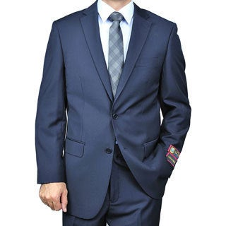 Men's 2-button Solid Navy Suit