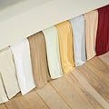 Egyptian Cotton 300 Thread Count Striped 15 in. Drop Flat Bedskirt