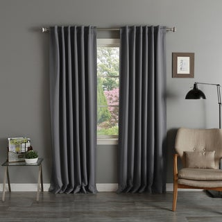 Aurora Home Thermal Rod Pocket 96-inch Blackout Curtain Panel Pair