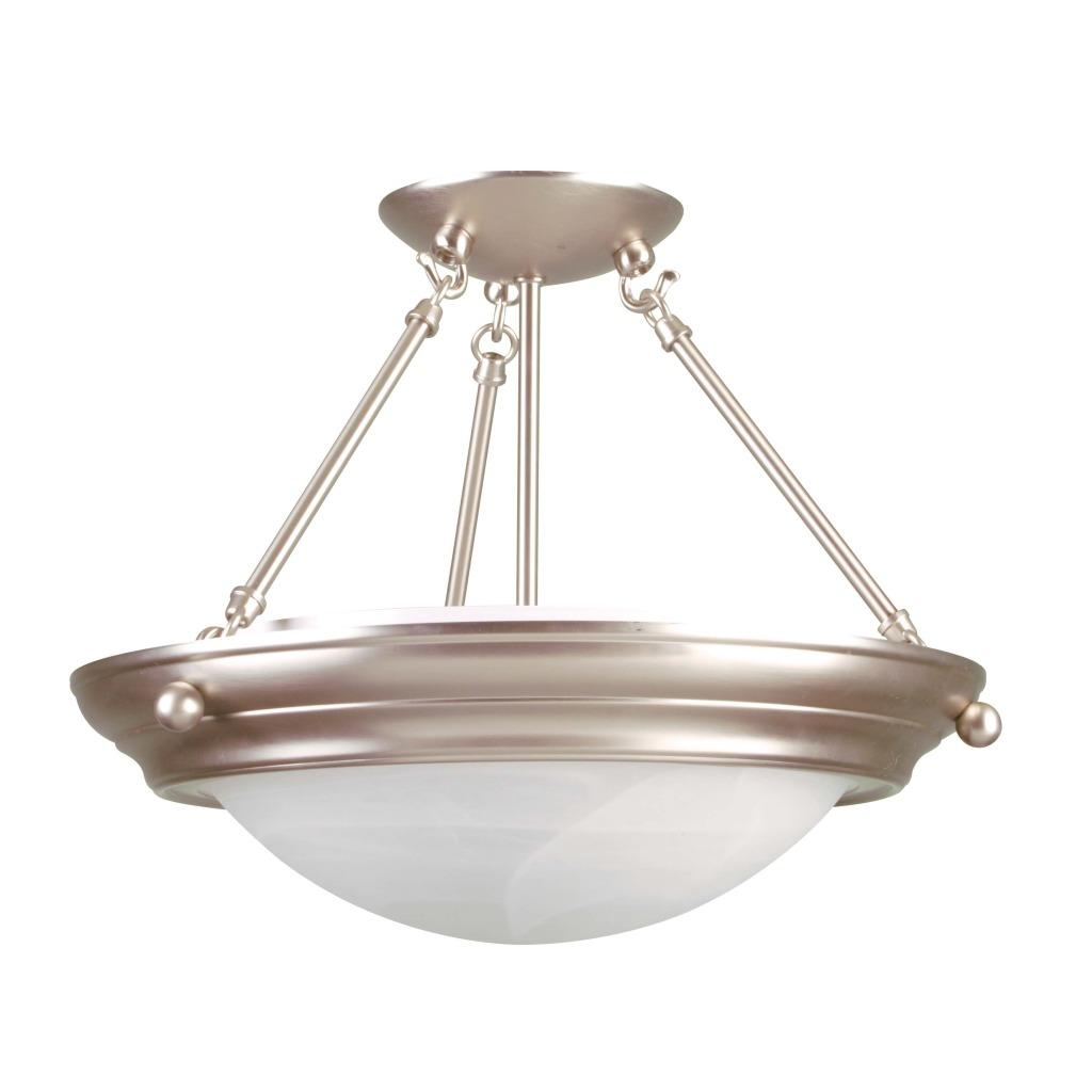 Brushed Nickel Fluorescent 2-light Pendant