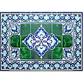 Mosaic 'Architectural Lengeh Design' 40-tile Ceramic Wall Art