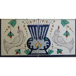 Mosaic 'Grey Doves' 6-tile Ceramic Wall Mural