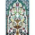 Golden Fountain Birds 6-tile Ceramic Wall Mural