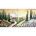 Landscape Tuscany View 8-tile Ceramic Wall Mural