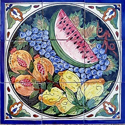 Mosaic Kitchen Wall Art 9-tile Ceramic Mural