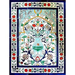 Floral Arch 12-tile Ceramic Wall Mural