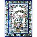Mosaic 'Loving Birds' 12-tile Ceramic Wall Mural