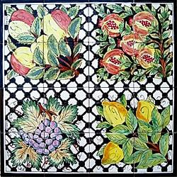 Mosaic 'Backsplash Art' 16-tile Ceramic Wall Mural