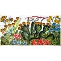 Mosaic 'Garden Theme' 18-tile Ceramic Wall Mural Art