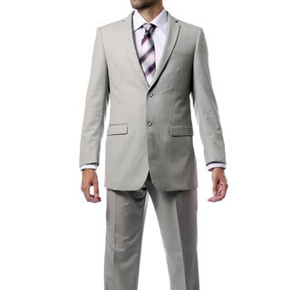 Ferrecci Men's Two-button Navy Blue Suit