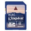 Kingston 8 GB Class 4 SDHC SD Memory Card