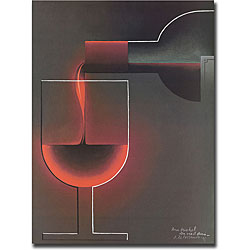 'Red Wine' Gallery-wrapped Art Print