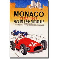 George Ham 'Monaco 1956' Gallery-wrapped Art Print