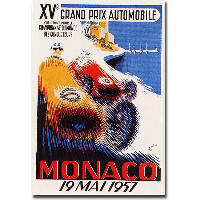 George Ham 'Monaco 1957' Gallery-wrapped Art Print
