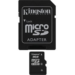 Kingston 8GB Micro SDHC Card with SD Adapter