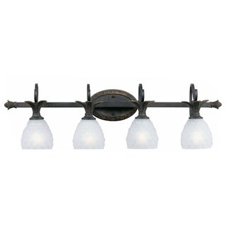 Polynesian Bronze Finish 4-light Vanity