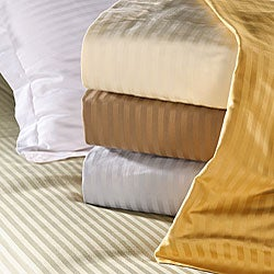 Egyptian Cotton Striped 1200 Thread Count 3-piece Duvet Cover Set