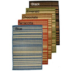 Indoor/ Outdoor Multi-color Polypropylene Rug (7'10 x 11'2)