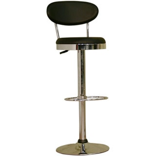 Baxton Studio Ray Black Adjustable Barstool