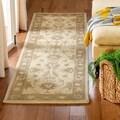 Handmade Heritage Kerman Ivory/ Brown Wool Runner (2'3 x 4')