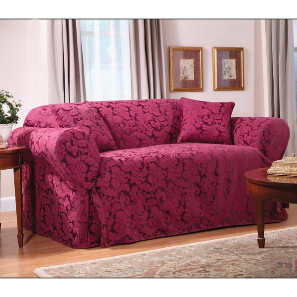 Sure Fit Scroll Sofa Slipcover Overstock