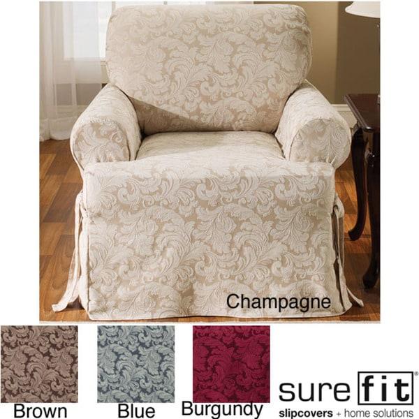 Scroll T-cushion Chair Slipcover