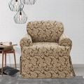 Scroll T-cushion Chair Slipcover