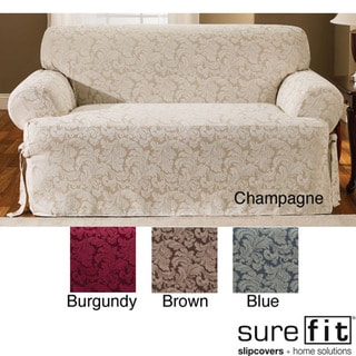 Scroll T Cushion Loveseat Slipcover Overstock Shopping Big Discounts On Sure Fit Loveseat