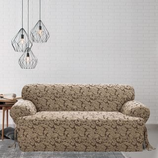 Sure Fit Scroll T-cushion Sofa Slipcover