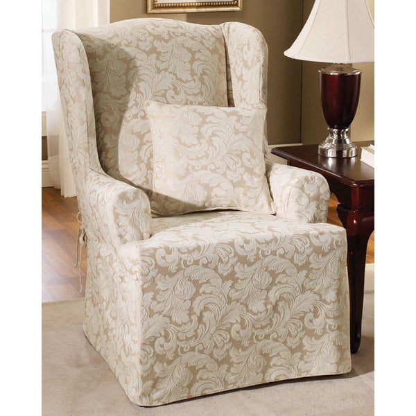 Sure Fit Scroll Wing Chair Slipcover