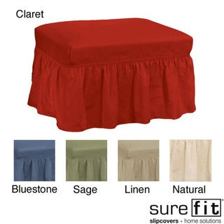 Cotton Classic Ottoman Slipcover