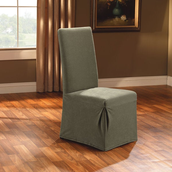 Dining Room Chair Slipcover Cream Suede