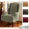 Royal Diamond Stretch Wing Chair Slipcover