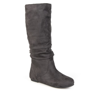"Journee Collection Womens ""Rebecca-12' Slouch Knee-High Microsuede Boot"