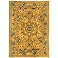 Safavieh Handmade Classic Heirloom Beige Wool Rug (2' x 3')