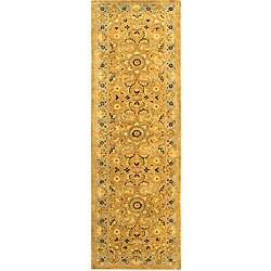 Safavieh Handmade Classic Heirloom Beige Wool Runner (2'3 x 8')
