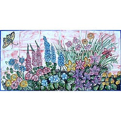 Garden Art Decor 18-tile Ceramic Wall Mural
