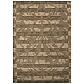 Hand-tufted Damask Chocolate Wool Rug (5' x 8')
