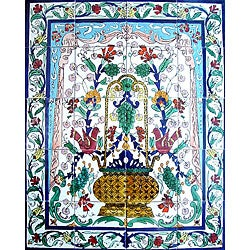 Mosaic Garden Decor 20-tile Ceramic Wall Mural