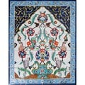 Floral Arch Blue Pot 20-tile Ceramic Wall Mural
